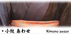袷きもの 小紋着物